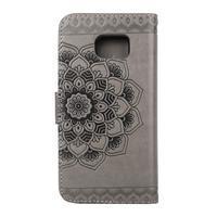 Mandala PU kožené pouzdro na Samsung Galaxy S7 Edge - šedé - 2/6