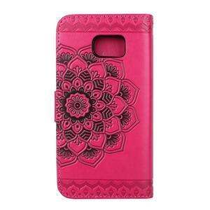 Mandala PU kožené pouzdro na Samsung Galaxy S7 Edge - rose - 2