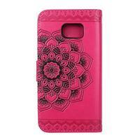 Mandala PU kožené pouzdro na Samsung Galaxy S7 Edge - rose - 2/6