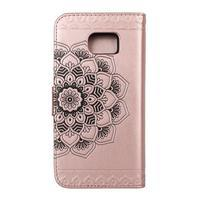 Mandala PU kožené pouzdro na Samsung Galaxy S7 Edge - růžovozlaté - 2/3