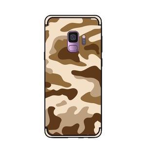 Camouflage hybridní odolný obal na Samsung Galaxy S9 - hnědý - 2