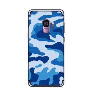 Camouflage hybridní odolný obal na Samsung Galaxy S9 - modrý - 2