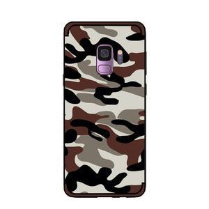 Camouflage hybridní odolný obal na Samsung Galaxy S9 - tmavě hnědý - 2