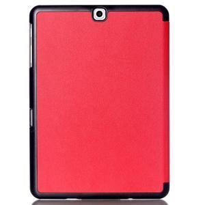Trifold polohovatelné pouzdro na Samsung Galaxy Tab S2 9.7 - červené - 2