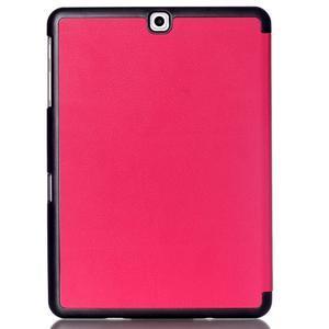 Trifold polohovatelné pouzdro na Samsung Galaxy Tab S2 9.7 - rose - 2