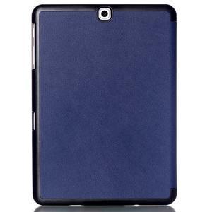 Trifold polohovateľné púzdro pre Samsung Galaxy Tab S2 9.7 - tmavomodré - 2