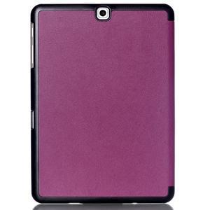Trifold polohovatelné pouzdro na Samsung Galaxy Tab S2 9.7 - fialové - 2