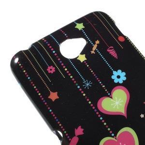 Gelový obal na Sony Xperia E4 - srdce - 2