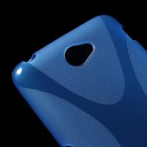 Gelový x-line obal na Sony Xperia E4 - modrý - 2