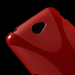 Gelový x-line obal na Sony Xperia E4 - červený - 2