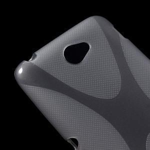 Gelový x-line obal na Sony Xperia E4 - šedý - 2