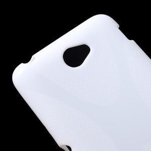 Gelový x-line obal na Sony Xperia E4 - bílý - 2