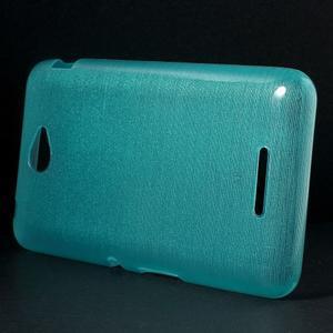 Broušený gelový obal pro Sony Xperia E4 - tyrkysový - 2
