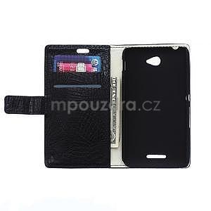 Pouzdro s krokodýlím vzorem na Sony Xperia E4 - černé - 2