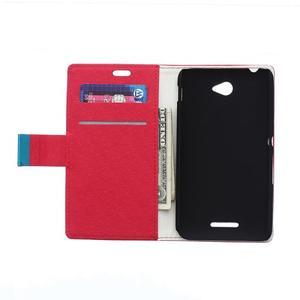 Vzorované pěněženkové pouzdro na Sony Xperia E4 - červené - 2