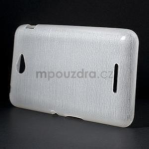 Broušený gelový obal pro Sony Xperia E4 - bílý - 2