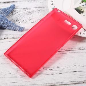 Matný gelový obal na mobil Sony Xperia XZ Premium - červený - 2