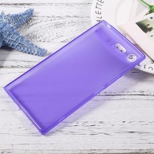 Matný gelový obal na mobil Sony Xperia XZ Premium - fialový - 2