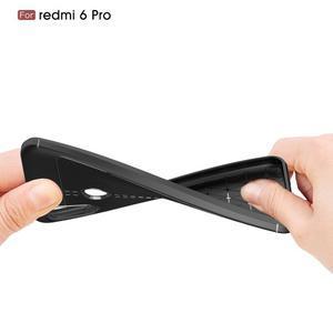 Litch silikonový odolný obal s texturou na mobil Xiaomi Mi A2 Lite - červený - 2