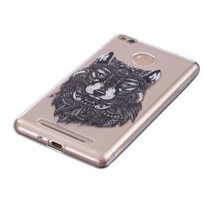 Emotive gelový obal na mobil Xiaomi Redmi 3S - vlk - 2