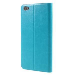 Horse PU kožené pouzdro na Xiaomi Redmi Note 5A - modré - 2