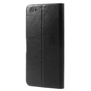 Horse PU kožené pouzdro na Xiaomi Redmi Note 5A - černé - 2