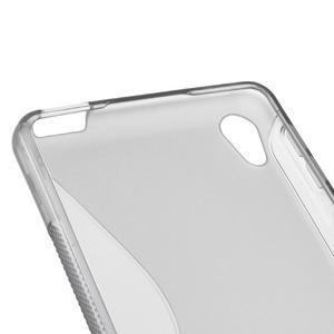 S-line gelový obal na mobil Sony Xperia E5 - šedý - 2