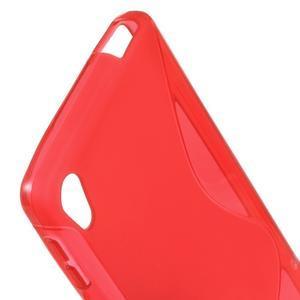 S-line gelový obal na mobil Sony Xperia E5 - červený - 2