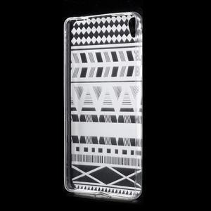 Ultratenký gelový obal na Sony Xperia E5 - geo tvary - 2