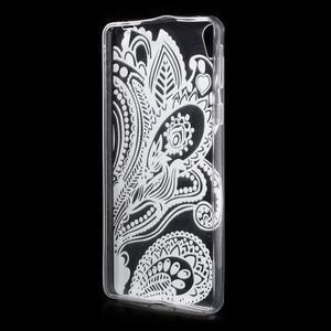 Ultratenký gelový obal na Sony Xperia E5 - květina - 2