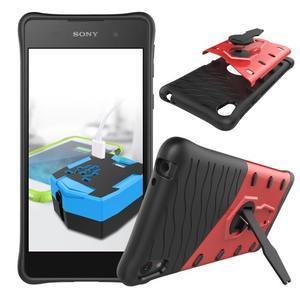 Armory odolný obal se stojánkem na Sony Xperia E5 - červený - 2