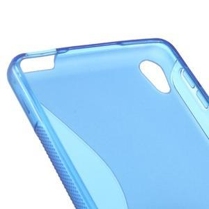 S-line gelový obal na mobil Sony Xperia E5 - modrý - 2
