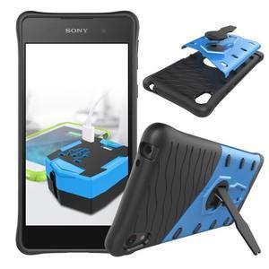 Armory odolný obal se stojánkem na Sony Xperia E5 - modrý - 2