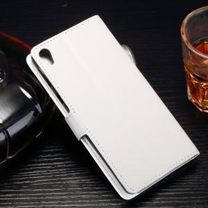 Horss PU kožené pouzdro na Sony Xperia E5 - bílé - 2