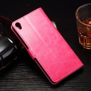Horss PU kožené pouzdro na Sony Xperia E5 - rose - 2