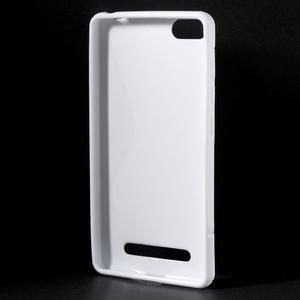 S-line gelový obal na mobil Xiaomi Mi4c/Mi4i - bílý - 2
