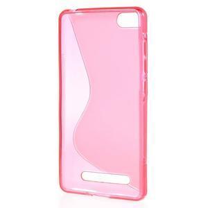 S-line gelový obal na mobil Xiaomi Mi4c/Mi4i - rose - 2