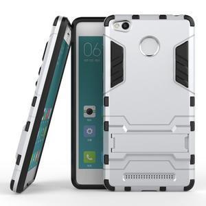 Outdoor odolný obal na Xiaomi Redmi 3 Pro - stříbrný - 2