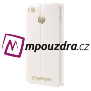 Horn PU kožené pouzdro na Xiaomi Redmi 3 Pro - bílé - 2