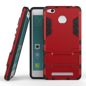 Outdoor odolný obal na Xiaomi Redmi 3 Pro - červený - 2