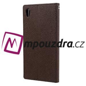 Diary PU kožené pouzdro na mobil Sony Xperia XA Ultra - hnědé - 2