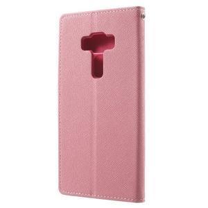 Diary PU kožené pouzdro na mobil Asus Zenfone 3 Deluxe - růžové - 2