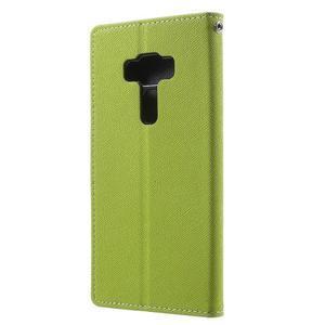 Diary PU kožené pouzdro na mobil Asus Zenfone 3 Deluxe - zelené - 2