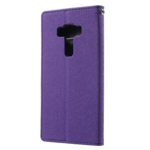 Diary PU kožené pouzdro na mobil Asus Zenfone 3 Deluxe - fialové - 2