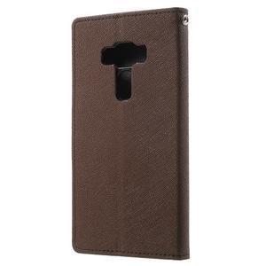 Diary PU kožené pouzdro na mobil Asus Zenfone 3 Deluxe - hnědé - 2