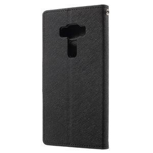 Diary PU kožené pouzdro na mobil Asus Zenfone 3 Deluxe - černé - 2