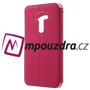 Diary pouzdro s okýnkem na mobil Asus Zenfone 3 ZE520KL - rose - 2