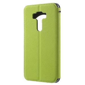 Diary pouzdro s okýnkem na mobil Asus Zenfone 3 ZE520KL - zelené - 2