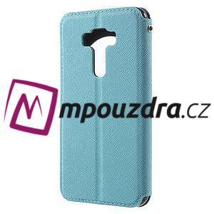 Diary pouzdro s okýnkem na mobil Asus Zenfone 3 ZE520KL - světlemodré - 2