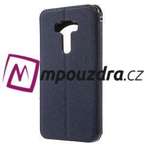 Diary pouzdro s okýnkem na mobil Asus Zenfone 3 ZE520KL - tmavěmodré - 2